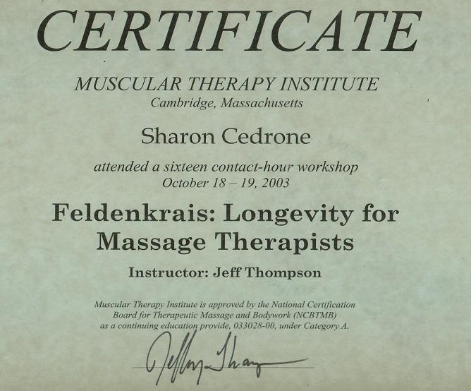 Massage E&T30 Feldenkrais